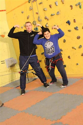Students Reach New Heights in Climbing Activity