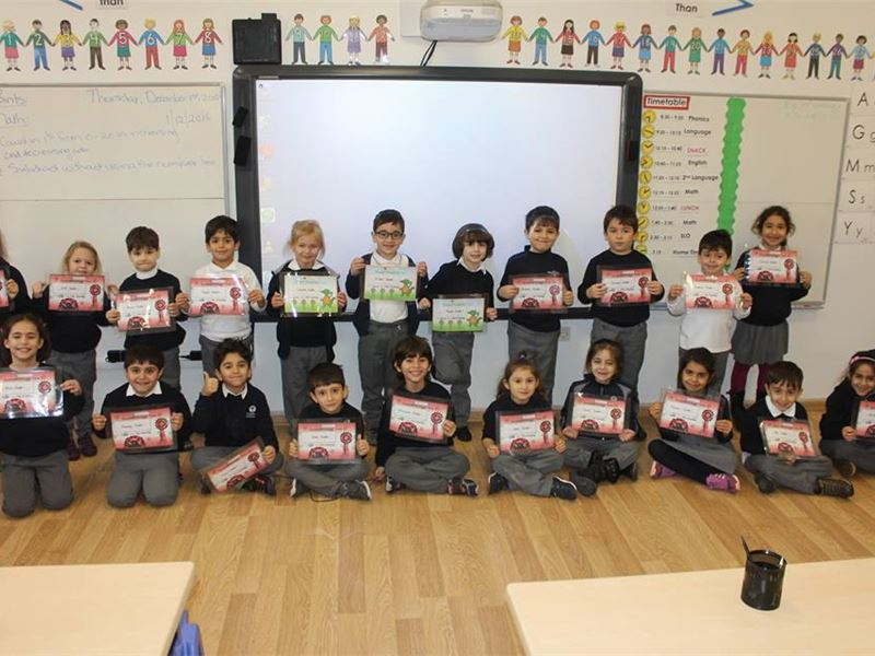 Excellent Achievers in Infants Department at the end of Term 1