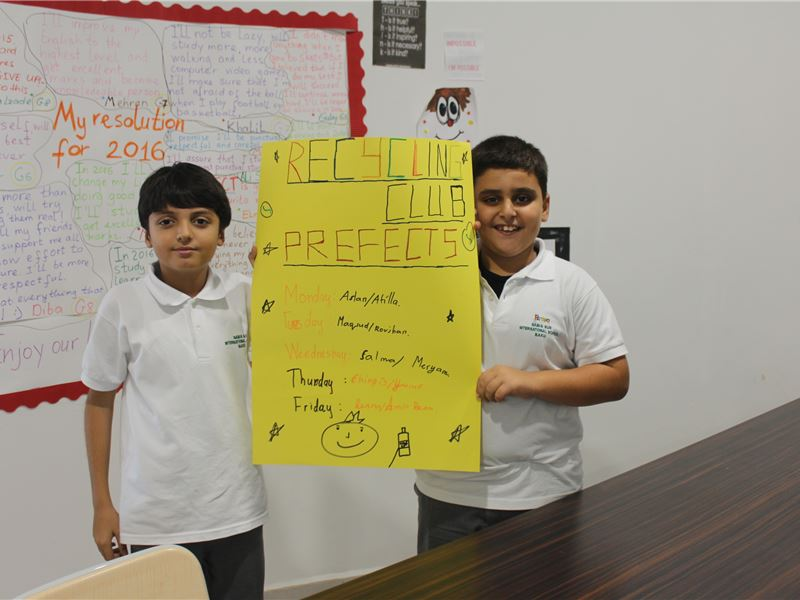 SABIS® SUN students implement recycling campaign